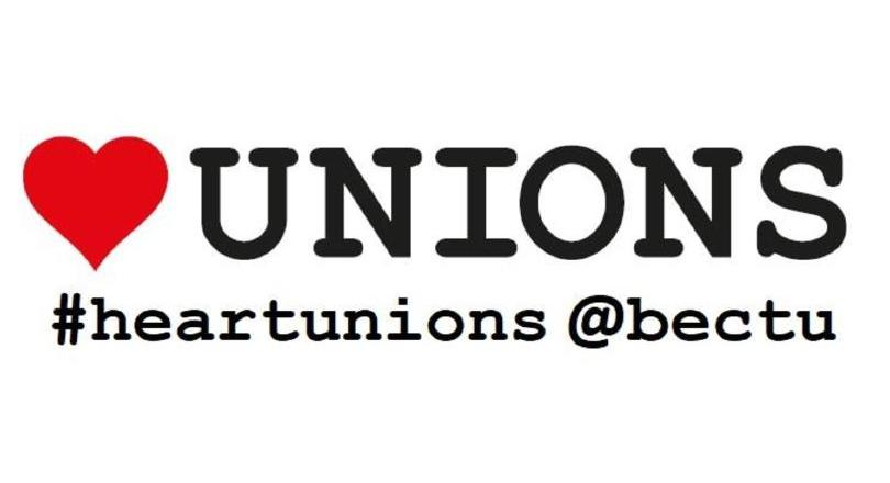 BECTU heart unions poster