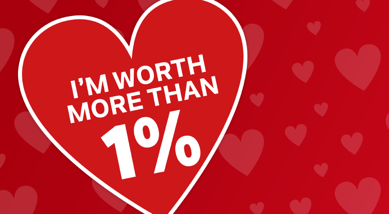 I'm worth more than one per cent