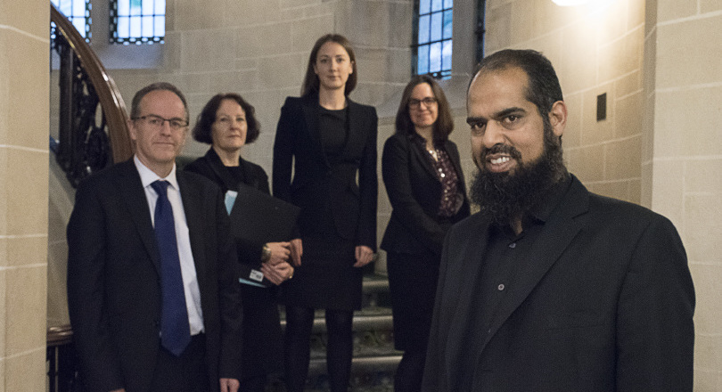 (l-r) Sean Jones, QC; Marion Scovell, Prospect head of legal; Amy Rogers, counsel; Emma Hawksworth, solicitor at Slater & Gordon; Mohammad Naeem